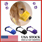 S-XL Pet Dog Adjustable Nylon Mesh Mask Mouth Muzzle Anti Stop Chewing Bark Bite