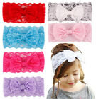 1 PCS Lace Bow Accessories Kids Girl Baby Flower Hair Band Headband Toddler