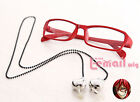 Grell Sutcliff Red Chain Glasses Black Butler Cosplay Accessorie Prop