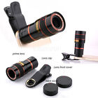 8X Zoom Camera Telephoto Telescope Lens Phone Clip For Various Smart Cell Phone