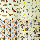 "100% PREMIUM COTTON FABRIC - 140cm / 55"" Wide - MADAGASCAR LOONEY TOONS ICE AGE"