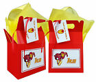 Personalised Marvel Superhero Iron Man Birthday Party Favour Lunch Gift Box/Bag