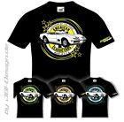 Burnout Coyote T-Shirt Schwarz US Car Oldtimer Muscle Corvette C3 69 V8 chevy