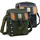 Men's fashion shoulder messenger bag for cigarette purse cell phone black green