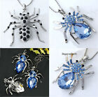 Hot Silver Plated Crystal Rhinestone Spider Bead Pendant for Necklace Popular