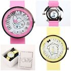 JAPAN SANRIO MY MELODY POMPOM PURIN 3D LETTERS PU BAND CHILD WATCH