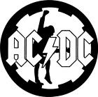 Ac Dc Round Decal Sticker Free Shipping
