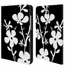 HEAD CASE DESIGNS BNW FLORAL LEATHER BOOK WALLET CASE FOR SAMSUNG GALAXY TABLETS
