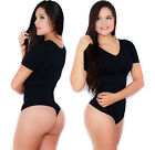 Carincci Intimates Slimming Colombian Tummy Control Short Sleeve Top Bodysuit
