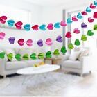 Gift 1Strand 3m Colorful Heart Paper Wedding Party Decoration Garland Handmade