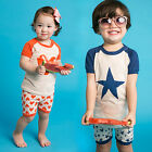 "Vaenait Baby Kids Girls Boys Clothes Short Pyjama Outfit set ""Pumping"" 12M-7T"