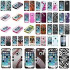 Hybrid Tuff Armor Case Cover Rugged For Apple iPhone 5 5s 5th+Screen Protector