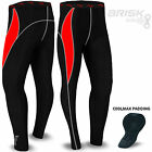 Mens Cycling Tights Thermal Padded Legging Cycling Compression Trouser Baselayer