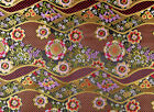 "1/2 YD.x28"" JAPANESE PATTERN SILK DAMASK JACQUARD BROCADE FABRIC: NIJINA PLUM"