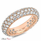 2.55ct Sim pave set Wedding Promise Engagement Band Ring Rose Sterling Silver RP