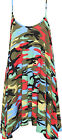 Womens Plus Multi Camouflage Swing Dress Print Flared Strappy Sleeveless 16-26