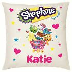 Personalised Shopkins Cushion Cover 38x38cm, Brand New Design!