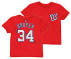 Majestic MLB Toddlers Washington Nationals Bryce Harper #34 Player Tee, Red