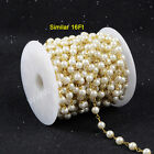 16Ft 5~6mm Imitation White Round Pearl Bead Chain DIY Jewelry Material AJT083