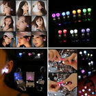 2pc Women's LED Earrings Glowing Crystal Ear Drops Mens Party  Light Up Ears