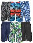 Mens BIG SIZE Hawiian Floral Swim Cargo Shorts Beach Summer Mesh Lined 2-8XL