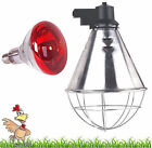 Infra Red Heat Lamp with Bulb Poultry Brooder chicks Hatching Puppies Piglet