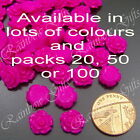 FLAT BACK CABOCHONS 20 50 or 100 ROSE FLOWER CABOCHONS 10mm RESIN CABOCHONS