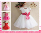 Hot Pinks Whites Bridesmaid Party Flower Girls Dresses AGE 2Y-3-4-5Y-6-7-8-9-10Y