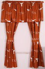 Texas Longhorns Drapes Curtains & Valance Set with Tie Backs