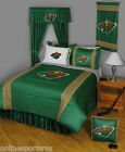 Minnesota Wild Comforter Sham and Pillowcase Twin Full Queen King Size