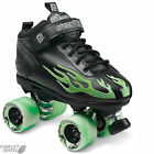 "SURE-GRIP ""Rock Flame"" Quad Roller Skates Size 4 - 7 UK GREEN SALE Roller Derby"