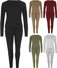 New Womens Knit Long Sleeve Pocket Top Set Pants Trousers Ladies Jogging Suit