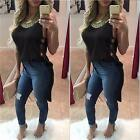 New Fashion Women Sexy Summer Hollow Out T Shirt Loose Sexy Club Dress Blouse CA