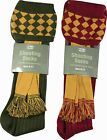 JACK PYKE SHOOTING SOCKS,GREEN,BURGUNDY,CHEQUERED,UK 8-11,30% WOOL 70% ACRYLIC