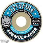 "SPITFIRE ""Formula Four"" Conical Skateboard Wheels 99a 52mm 54mm WHITE Street"