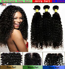 3 Bundle Brazilian JERRY CURL Remy Human Curly Hair FREE Lace CLOSURE Set Deal