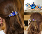 crystal Rhinestone D U Flower Hair Barrette Clip I S Hairpin Women Jewelry