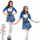 Naughty Student Sexy Schoolgirl Fancy Dress Costume Ladies Uniform UK 8-18 New