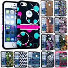Hard Soft Rubber Armor Impact Hybrid Silicone Case Cover for iPhone SE / 5 / 5s