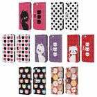 HEAD CASE DESIGNS CATS AND DOTS LEATHER BOOK WALLET CASE FOR APPLE iPHONE 6 6S