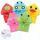 Super Cute Children's Waterproof Hooded Raincoat Jacket Cartoon Sweet Funny