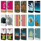 HEAD CASE MIX CHRISTMAS COLLECTION LEATHER BOOK CASE FOR APPLE iPHONE 5 5S SE