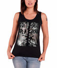 The Walking Dead Vest Dead Inside Official Womens New Black Skinny Fit Top