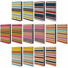 HEAD CASE DESIGNS STRIPES 2 LEATHER BOOK WALLET CASE FOR APPLE iPAD MINI 1 2 3