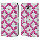 HEAD CASE DESIGNS WOVEN PAPER PATTERN LEATHER BOOK CASE FOR SAMSUNG GALAXY S2 II