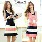 Kawaii Clothing Ropa Dress Vestido Pink Harajuku Korean Japanese Pink Blue Short