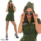 Ladies Womens Aviator Pilot Girl Military Fancy Dress Costume Outfit and Glasses
