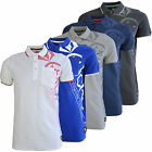 Crosshatch Pacific Mens Polo Shirt New Casual Pique Collared Tee Cotton Top