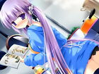 D5552 Cute Pretty Girl Long Purple Hair Anime Art Gigantic Print POSTER