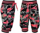 Girls Cropped Jogging Pants Joggers Army Print Trousers Kids Clothes Ages 2-14yr